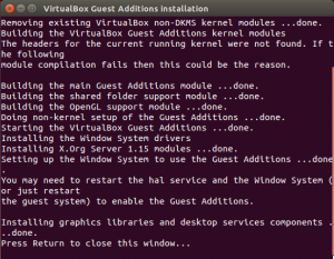VirtualBox Guest Additions Installation