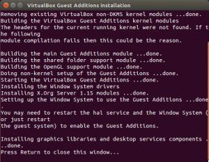 VirtualBox Guest Additions Installation