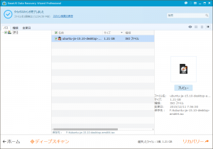 EaseUS Data Recovery Wizard Professional - クイックスキャンが完了しました:選択(大きなファイル)