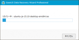 EaseUS Data Recovery Wizard Professional - リカバリー中(大きなファイル)